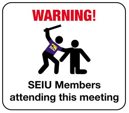 SEIU beating blog