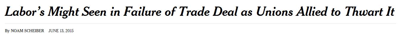 Labor's Might NYT